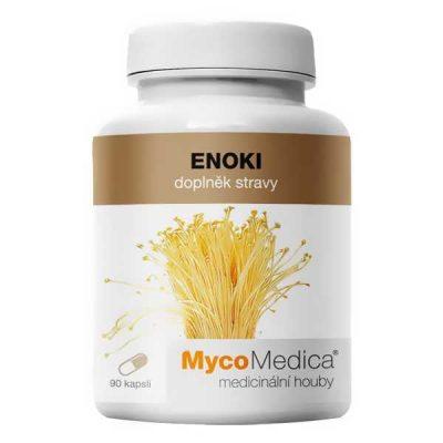 Enoki, flammulina velutipes, enokitake, reakciu na potraviny, posilňuje imunitný systém,