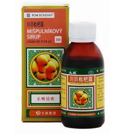 Mišpuľníkový sirup, bylinný sirup proti kašľu, CHUAN BEI PI PA LU
