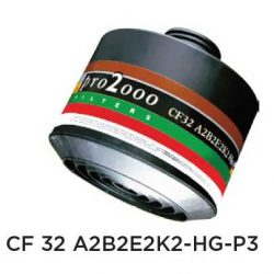 Ochranný protiplynový filter – CF32 A2B2E2K2-Hg-P3